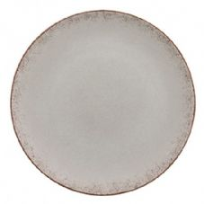 Bauscher Modern Rustic Flat Coupe Plate in Natural Grey